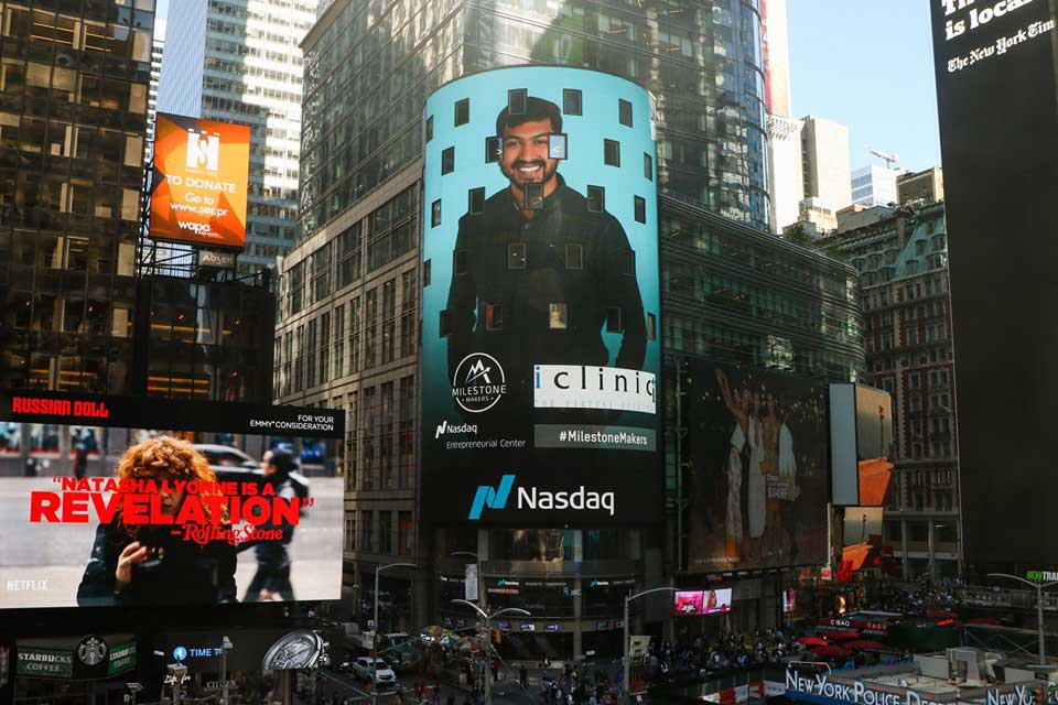 icliniq on nasdaq milestone